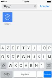 Apple iPhone 4S iOS 7 - Internet et roaming de données - navigation sur Internet - Étape 13