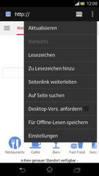 Sony Xperia V - Internet und Datenroaming - Verwenden des Internets - Schritt 13