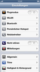Apple iPhone 5 - Gerät - Zurücksetzen auf die Werkseinstellungen - Schritt 3