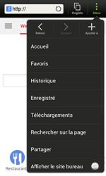 HTC One SV - Internet et roaming de données - Navigation sur Internet - Étape 10