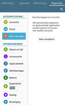Samsung Galaxy Tab4 8.0 4G (SM-T335) - Instellingen aanpassen - Fabrieksinstellingen terugzetten - Stap 8