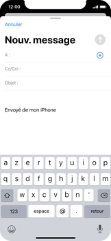 Apple iPhone XS - iOS 13 - E-mail - envoyer un e-mail - Étape 3