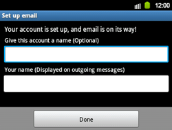 Samsung B5510 Galaxy TXT - E-mail - Manual configuration - Step 13