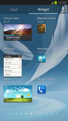 Samsung Galaxy Note II - Operazioni iniziali - Installazione di widget e applicazioni nella schermata iniziale - Fase 5