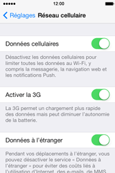 Apple iPhone 4 S iOS 7 - Internet - désactivation du roaming de données - Étape 4