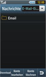 Samsung S8000 Jet - E-Mail - Konto einrichten - Schritt 12