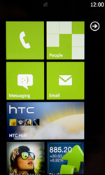 HTC 7 Trophy - Internet - Manual configuration - Step 1