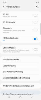 Samsung Galaxy Z flip - Internet und Datenroaming - Prüfen, ob Datenkonnektivität aktiviert ist - Schritt 5