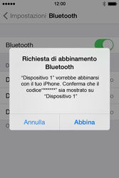 Apple iPhone 4S iOS 7 - Bluetooth - Collegamento dei dispositivi - Fase 8