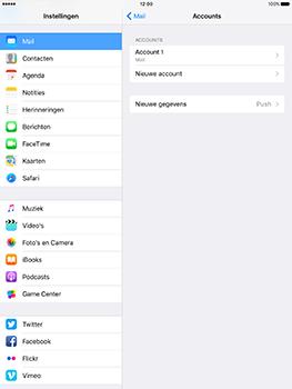 Apple iPad 9.7 (Model A1823) - E-mail - Handmatig instellen - Stap 27