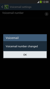 Samsung N9005 Galaxy Note III LTE - Voicemail - Manual configuration - Step 9
