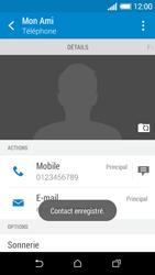 HTC Desire 510 - Contact, Appels, SMS/MMS - Ajouter un contact - Étape 13