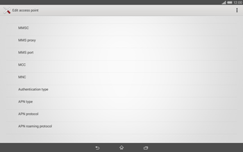 Sony Xperia Tablet Z2 LTE - MMS - Manual configuration - Step 14