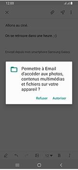 Samsung Galaxy A40 - E-mails - Envoyer un e-mail - Étape 14