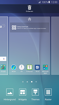 Samsung Galaxy A8 - Startanleitung - Installieren von Widgets und Apps auf der Startseite - Schritt 4