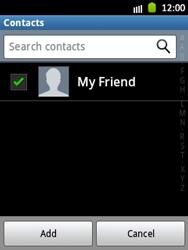 Samsung S5300 Galaxy Pocket - E-mail - Sending emails - Step 7