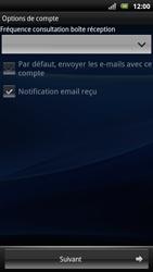 Sony Ericsson Xperia Arc S - E-mail - Configurer l