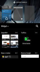 HTC One - Operazioni iniziali - Installazione di widget e applicazioni nella schermata iniziale - Fase 5