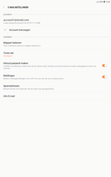 Samsung Galaxy Tab A 10.1 - Android Nougat - E-mail - Instellingen KPNMail controleren - Stap 8