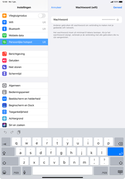 Apple iPad Pro 11 inch 2nd generation (2020) (Model A2230) - WiFi - Mobiele hotspot instellen - Stap 5