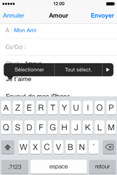 Apple iPhone 4 S iOS 7 - E-mail - envoi d