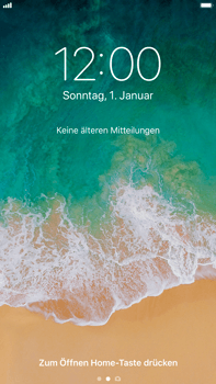 Apple iPhone 8 Plus - iOS 11 - Sperrbildschirm und Benachrichtigungen - 2 / 10