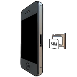 Apple iPhone 4 S mit iOS 7 - SIM-Karte - Einlegen - Schritt 5