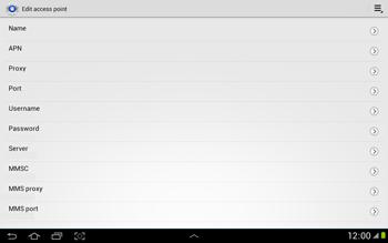 Samsung N8000 Galaxy Note 10-1 - Internet - Manual configuration - Step 9