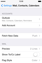 Apple iPhone 4S iOS 7 - E-mail - 032c. Email wizard - Outlook - Step 10