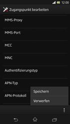 Sony Xperia Z - Internet und Datenroaming - Manuelle Konfiguration - Schritt 15