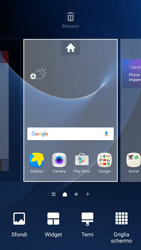 Samsung Galaxy S7 - Operazioni iniziali - Installazione di widget e applicazioni nella schermata iniziale - Fase 3