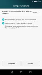 Huawei P8 Lite - E-mail - Configuration manuelle - Étape 18
