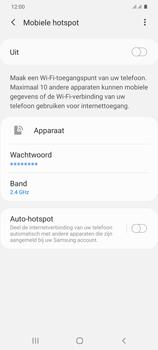 Samsung Galaxy S20 Plus 5G Dual SIM eSIM SM-G986B - WiFi - Mobiele hotspot instellen - Stap 11