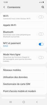 Samsung Galaxy S20 5G - Internet et roaming de données - Comment vérifier que la connexion des données est activée - Étape 5