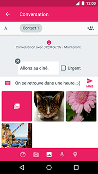 Motorola Moto E4 Plus - Contact, Appels, SMS/MMS - Envoyer un MMS - Étape 14
