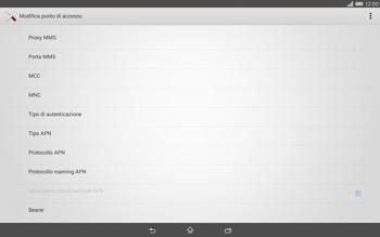 Sony Xperia Tablet Z2 LTE - Internet e roaming dati - Configurazione manuale - Fase 12