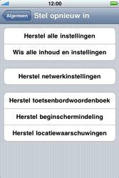 Apple iPhone 4 - Instellingen aanpassen - Fabrieksinstellingen terugzetten - Stap 5