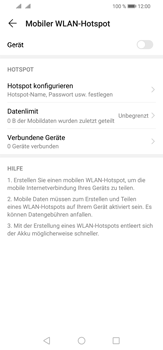 Huawei P30 Lite - WiFi - So aktivieren Sie einen WLAN-Hotspot - Schritt 12