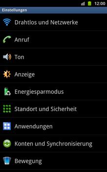 Samsung N7000 Galaxy Note - MMS - Manuelle Konfiguration - Schritt 4