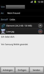 Samsung I8160 Galaxy Ace 2 - E-Mail - E-Mail versenden - Schritt 12