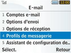 Samsung S3350 Chat 335 - E-mail - Configuration manuelle - Étape 6