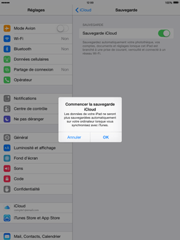 Apple iPad mini iOS 8 - Applications - Configuration du service iCloud d