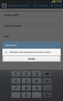 Samsung T315 Galaxy Tab 3 8-0 LTE - E-mail - Configuration manuelle - Étape 13