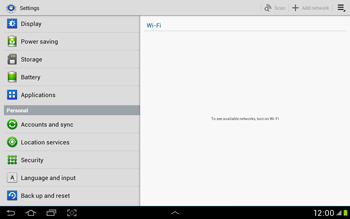 Samsung Galaxy Tab 2 10.1 - Mobile phone - Resetting to factory settings - Step 4