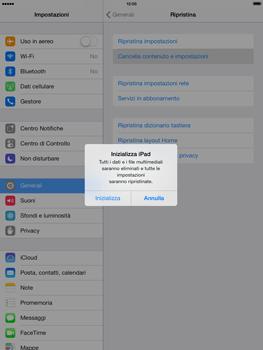 Apple iPad mini iOS 7 - Dispositivo - Ripristino delle impostazioni originali - Fase 7