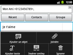 Samsung B5510 Galaxy TXT - MMS - envoi d'images - Étape 8