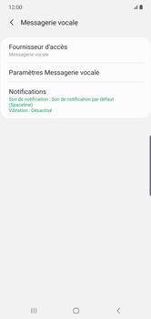 Samsung Galaxy Note10 Plus - Messagerie vocale - configuration manuelle - Étape 8