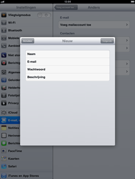 Apple iPad mini - E-mail - handmatig instellen - Stap 7