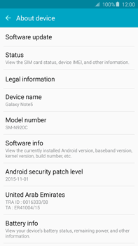 Samsung N920 Galaxy Note 5 - Device - Software update - Step 6