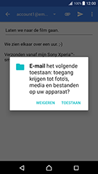 Sony xperia-xz-premium-g8141 - E-mail - Bericht met attachment versturen - Stap 11